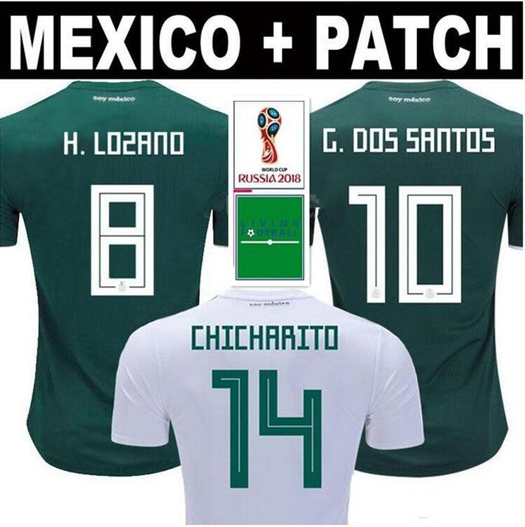 MEXICO SOCCER JERSEYS 2018 World Cup CHICHARITO LOZANO DOS SANTOS LAYUN Mexico  Football Kit Shirt Camisetas De Futbol Men Women UK 2019 From  Fansclubsoccer d9c925f63