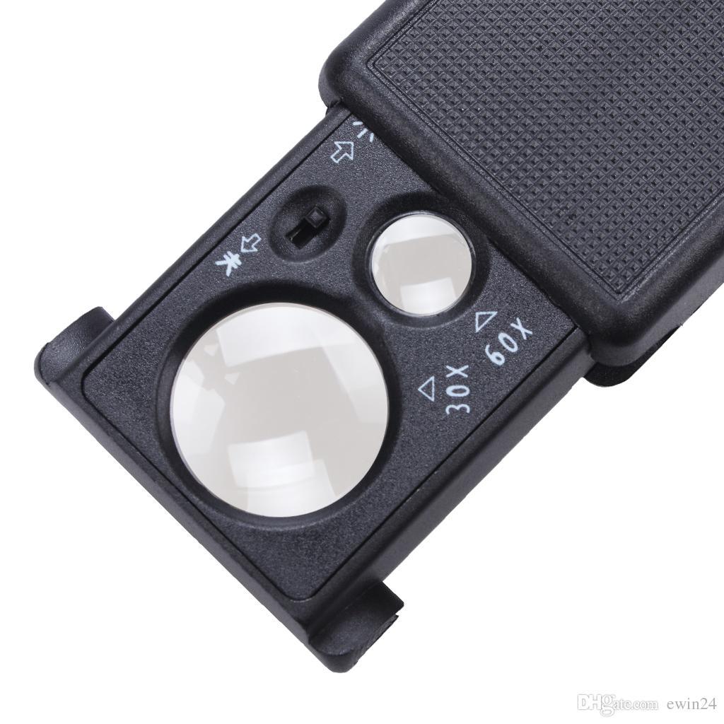 Портативный мини черный 30X 60X ручной чтение увеличительное лупа объектив стекло складной ювелирные изделия петли ювелирных изделий лупы