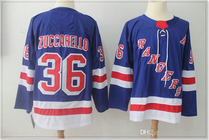 New York Rangers #36 Mats Zuccarello 76 Brady Skjei Vintage Mens Ice Hockey Uniforms Shirts Sports Team Cheap Jerseys Stitched Embroidery