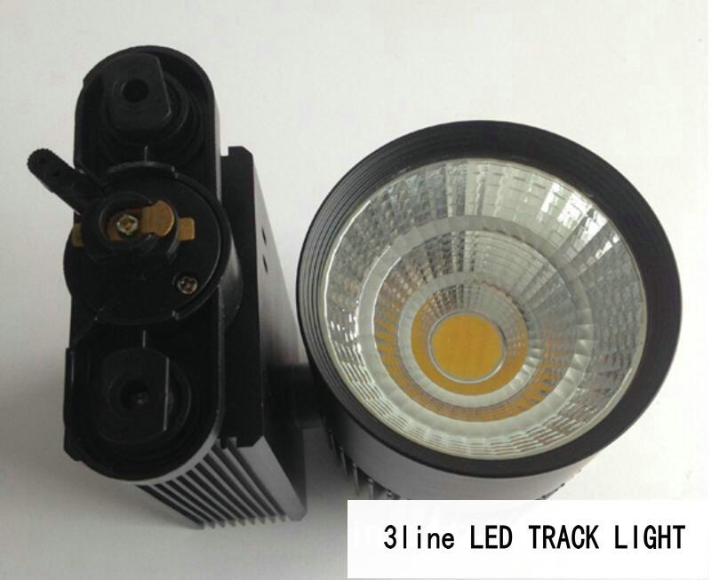 2line 3line 4line LED Track Light 30W 35W CREE Rail Ceiling pendant Track Light Commercial Residential Clothes Shoes Shop Lamp