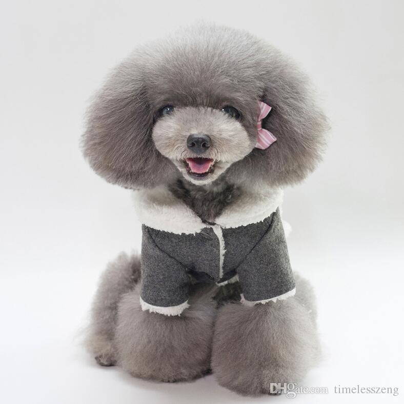 Dog costume Dog clothes jacket 5 size pet warm clothes high quanlity cotton puppy coat autumn winter dog apparel pet supplies