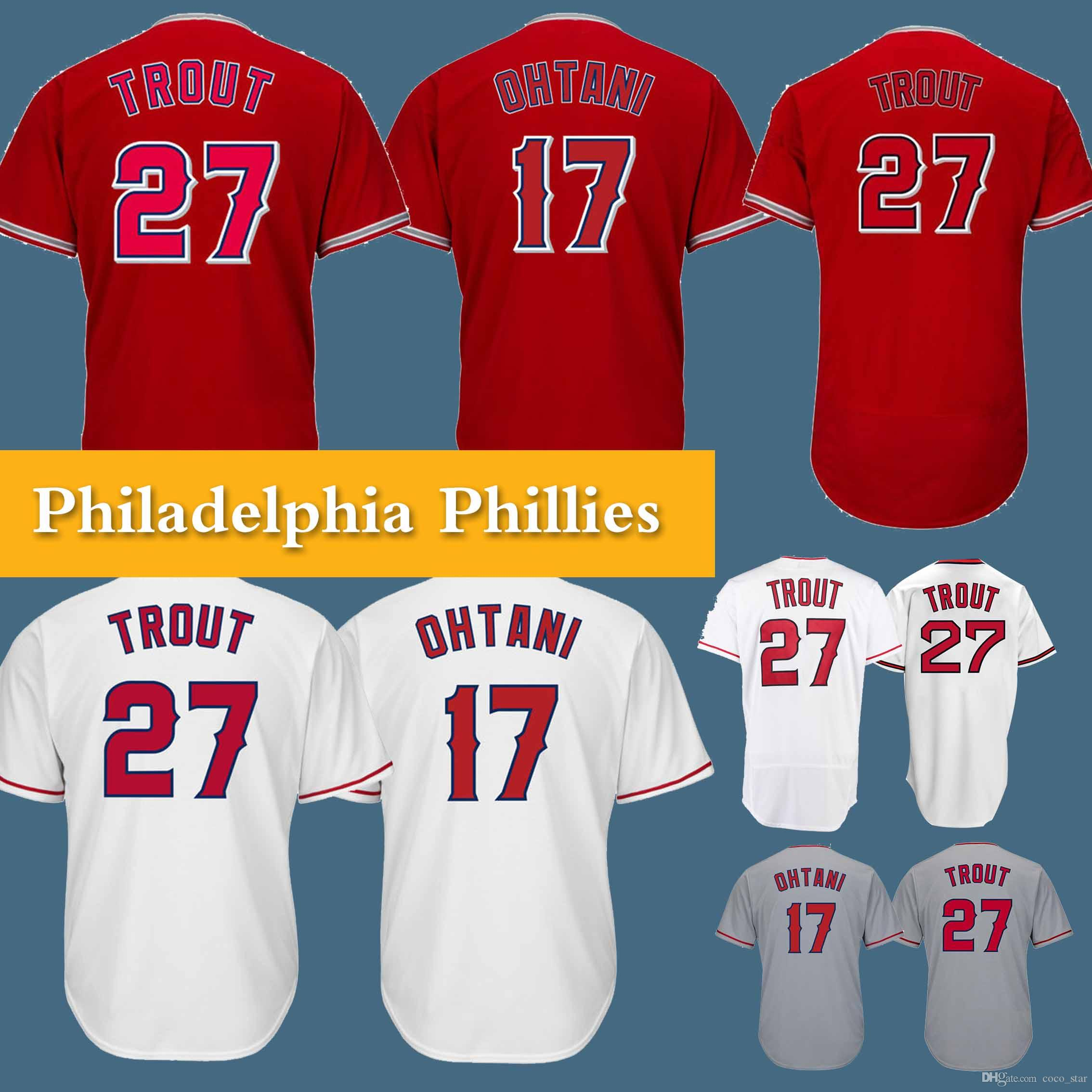 8b5ae8fe8 ... cheapest 27 mike trout jersey 18 19 los angeles ange jersey 17 shohei  ohtani high quality