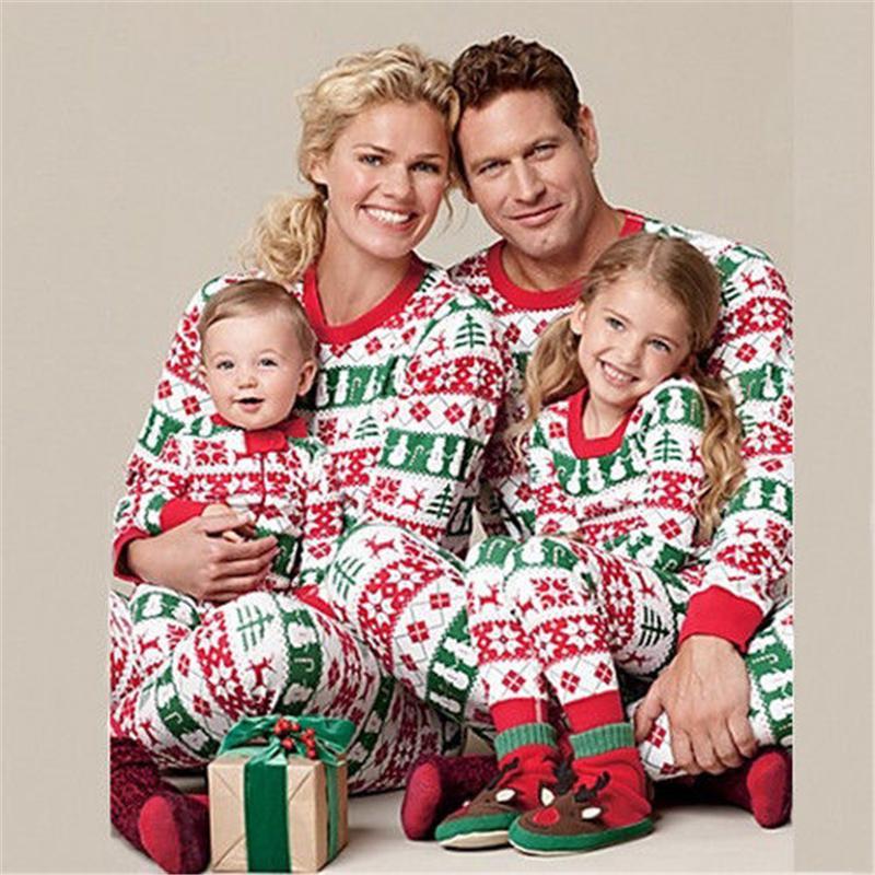 Compre Juego De Pijamas De Navidad Que Combinan Con La Familia 2018
