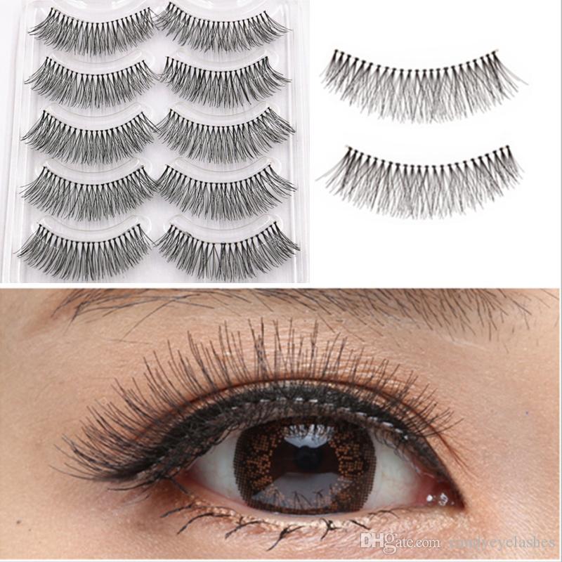 5397b3b67ea 100% Silk Human Hair Full Strip Eyelash Reusable Natural Soft Fake Eye  Lashes Artificial Human Hair Natural Eyelashes Extension False GR253 Party  Lashes ...