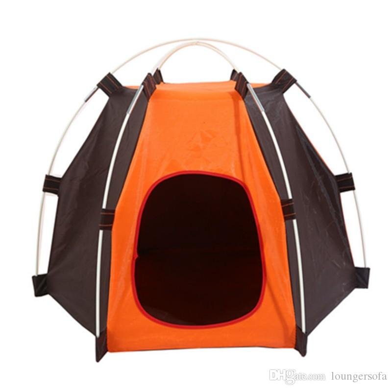 Creative Hexagon Pet Tent Removable Easy To Clean Dog Tabernacle Durable Rainproof Sunscreen Puppy Cat Tents High Quality 25wc B