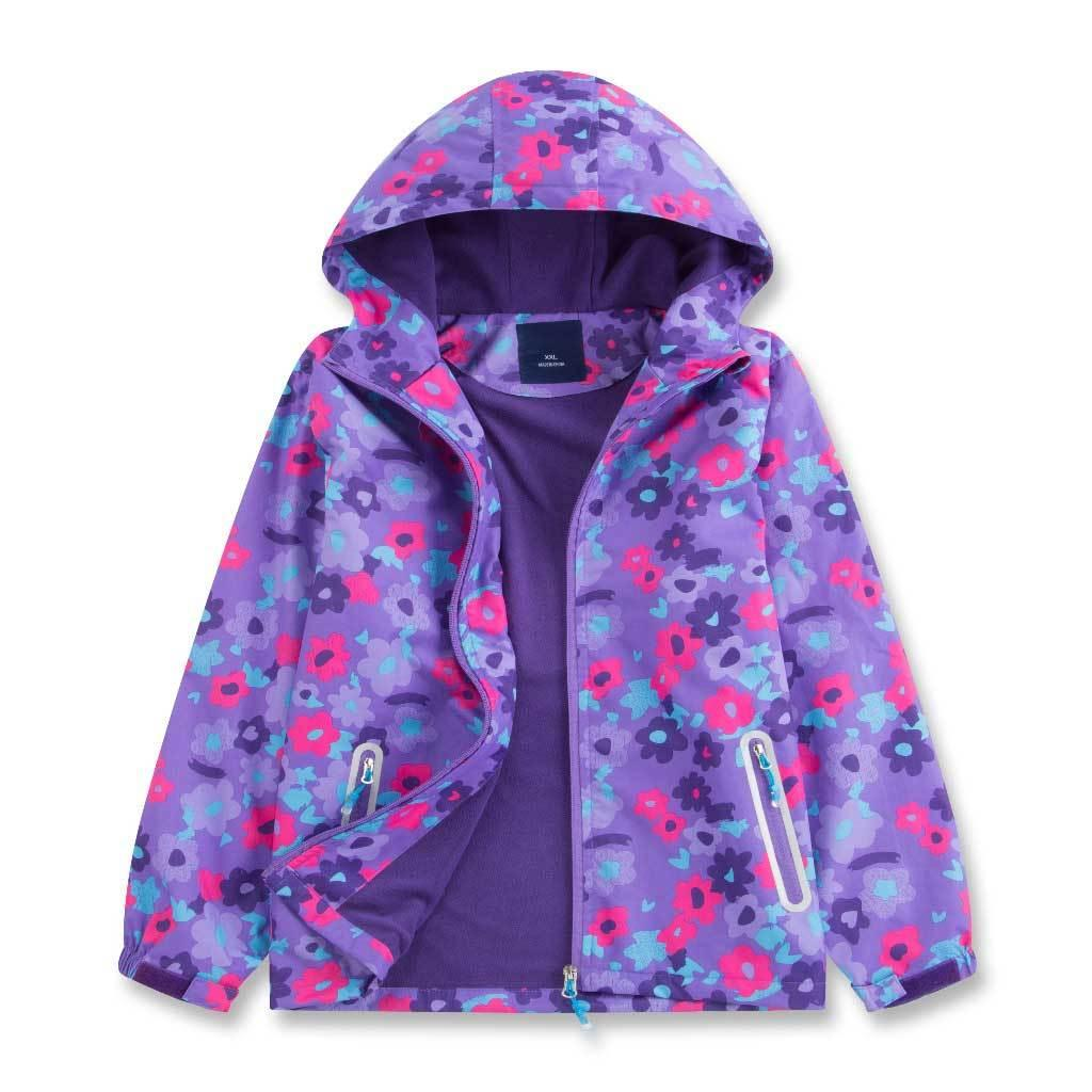 b36008c9f Sports Casual Hooded Coat Girls Bright Color Spring Autumn Jacket ...