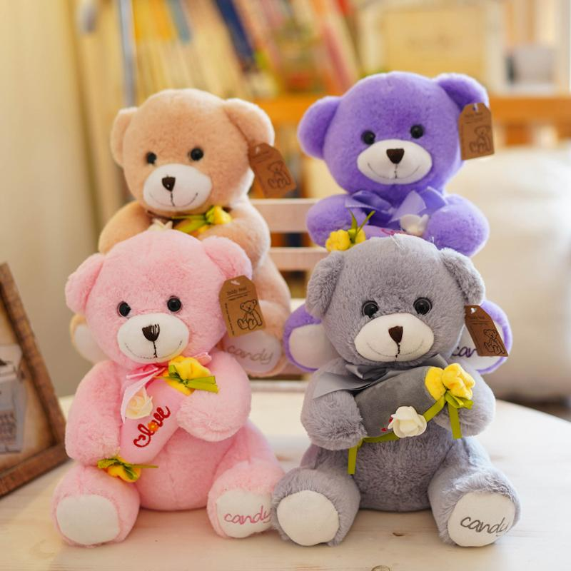 6b93ec53391b5c Super Cute Plush Toy Lovely Smiling Teddy Bear Holding Candy Flower Lover  Creative Birthday Christmas Gift From Yohkoh, $43.03 | DHgate.Com