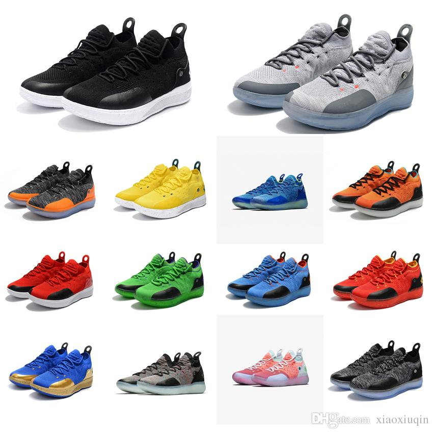 3894b136920 2019 Cheap Men KD 11 Basketball Shoes For Sale Texas Orange Black White Red  Grey New Arrival Kds Kevin Durant Xi Low Cut Sneakers Tennis With Box From  ...