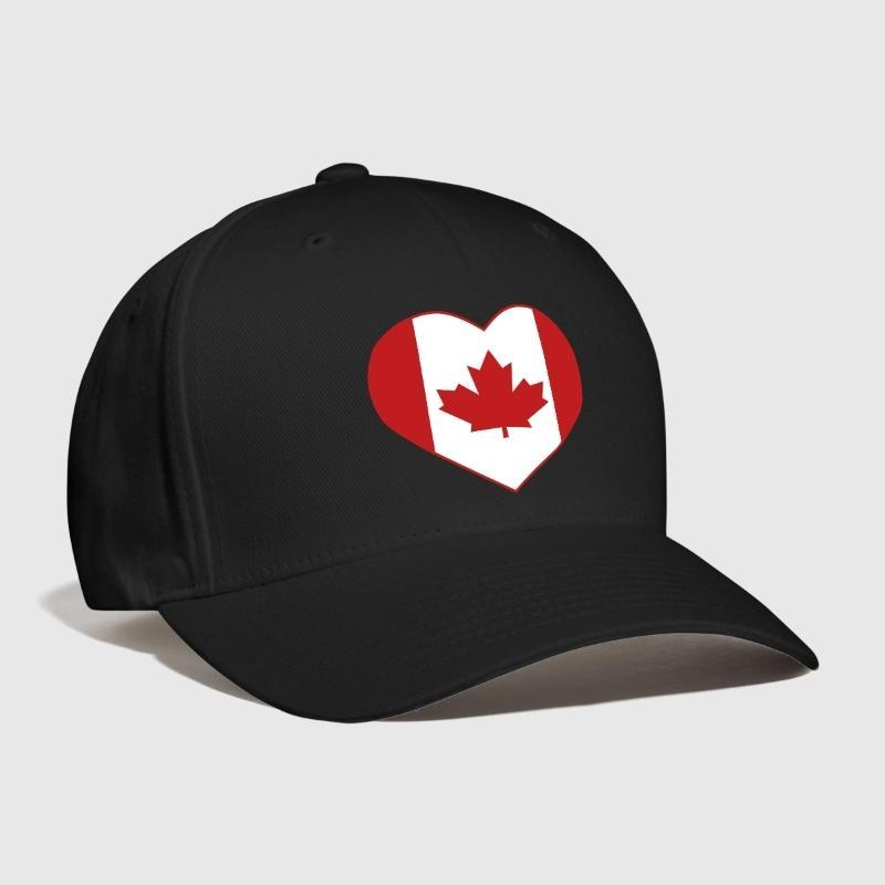 bab93ef2fcc Canada Heart Embroidery Customized Handmade Maple Leaf Love Patriot Country  National Flag Canadian Fashion Cool Curved Dad Hat Hat Store Ny Cap From  Baozii