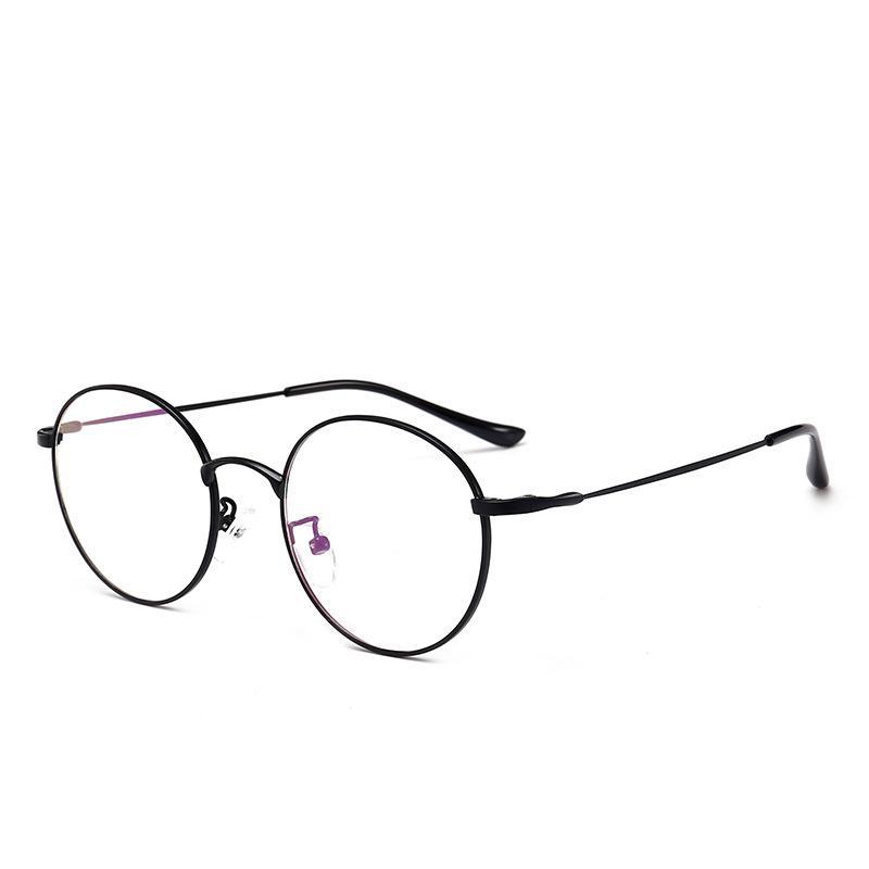 e9fb06d52e5c8 Compre Retro Rodada Óculos De Armação Homens E Mulheres Versão Coreana Da  Arte Espelho Plano De Metal Moldura BZC 1 BZC 3 De Junemay