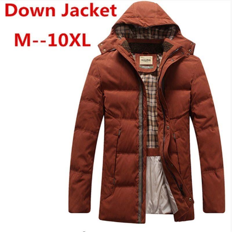 86c8933394e 2019 Big Plus Size 10XL 8XL Winter Men S Hooded Down Jacket White Duck Down  Jacket Men S Thick Coats Parkas Warm Jackets From Manxinxin