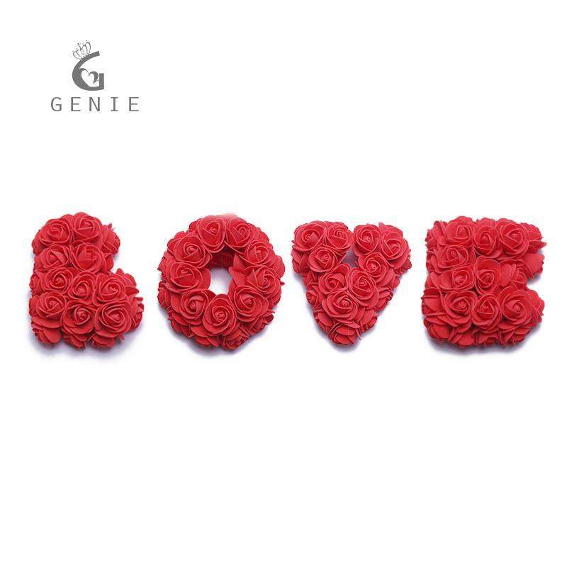 2019 Genie Rose Artificial Flowers Foam Rose Cute Letter Love Diy
