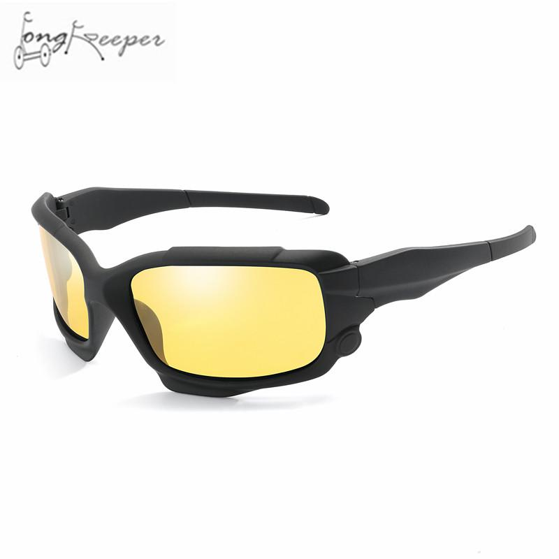 e0ccbcbfcdd9 2019 Long Keeper Men Polarized Sunglasses Yellow Night Vision Sun Glasses  Safe Driving Bike Goggles Eyewear Cycling Bicycle Glass From Moonk