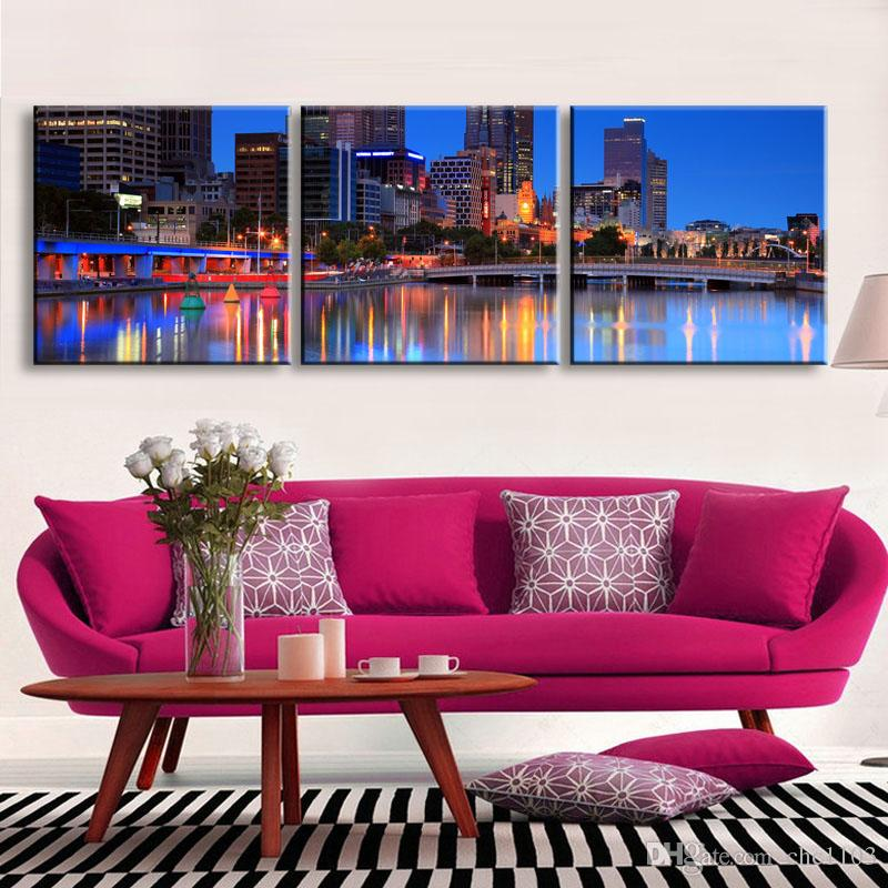 high-definition print night view canvas prints painting poster and wall art living room picture CSYJ3-007