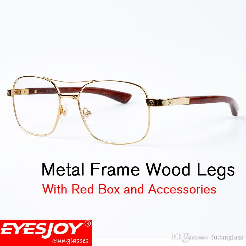 a15437a76cf Mens Metal Frame Wood Legs Fashion Glasses Luxury Brand Designer Eyeglasses  Classic Men Glasses Prescription Eyeglasses With Box CT5037821 Sarah Palin  ...