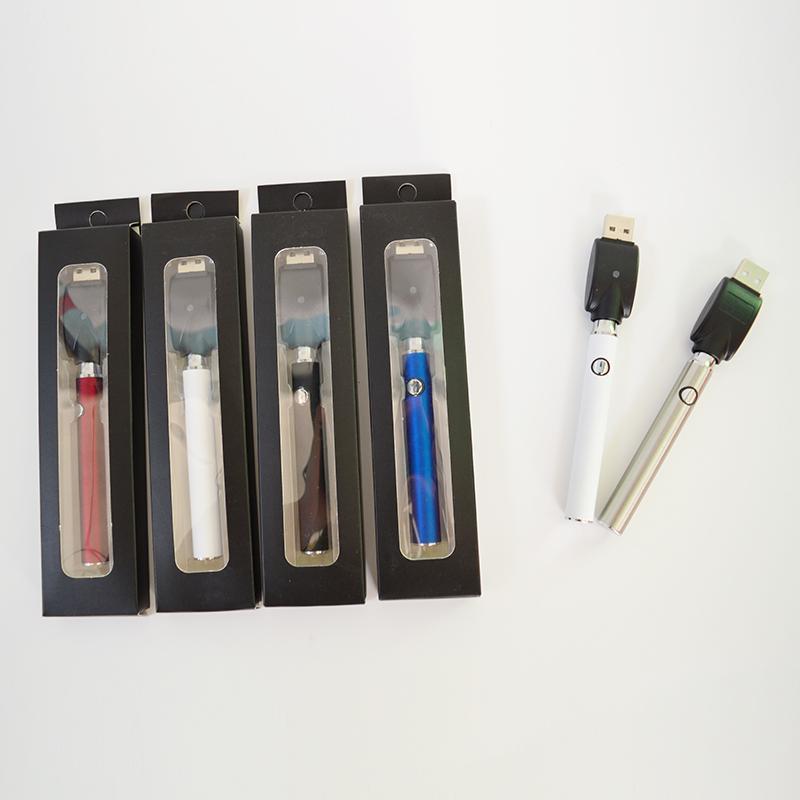 Vértice 510 de rosca de la batería 350mAh variable Valtage Vape pluma de la batería E cigarrillos tensión de precalentamiento de la batería con cargador USB