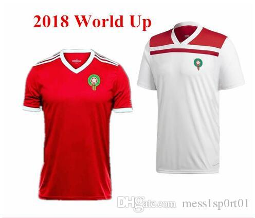 b25d5855c8e 2019 2018 World Cup Morocco Home Soccer Jerseys Morocco National Football  Team Home Red Soccer Shirt 2018 Moroccan Football Shirts From Mess1sp0rt01,  ...