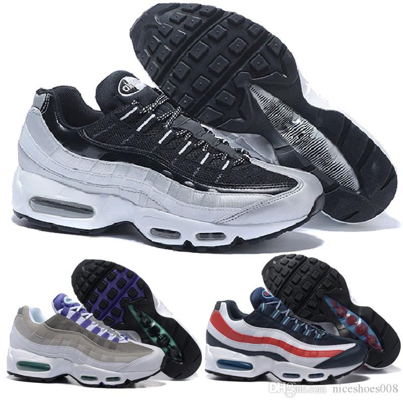 Купить Оптом Nike Air Max Airmax 95 Новый 20 Летний Юбилей MID Shoe 95s Sneakerboot  95 Черный Белый ArmyMen Осенний Зимний Воздушный Подушечек Лодыжки ... 97d44d16aac
