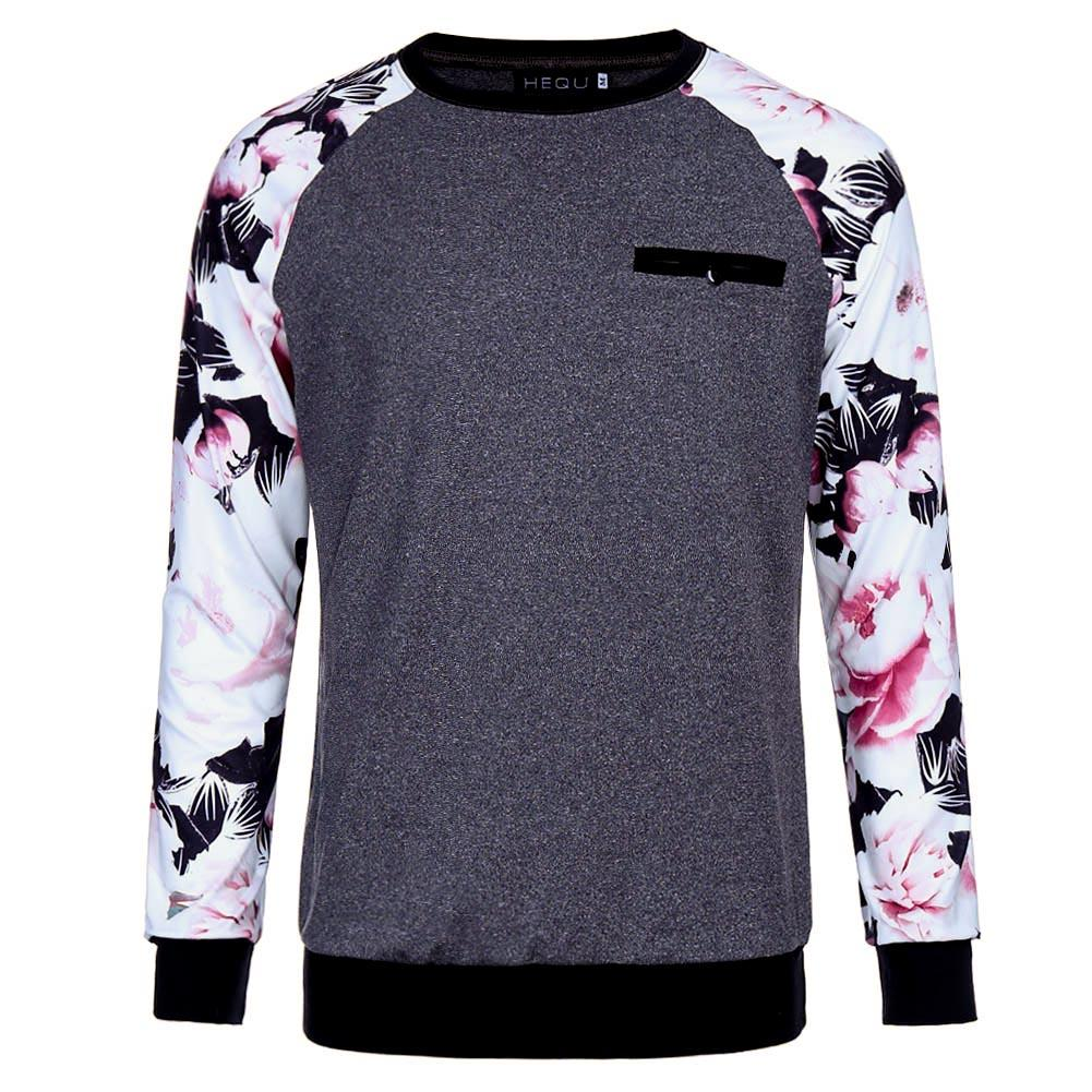 Fashion Brand Designer Shirts Men Floral Shirts Long Sleeve Print