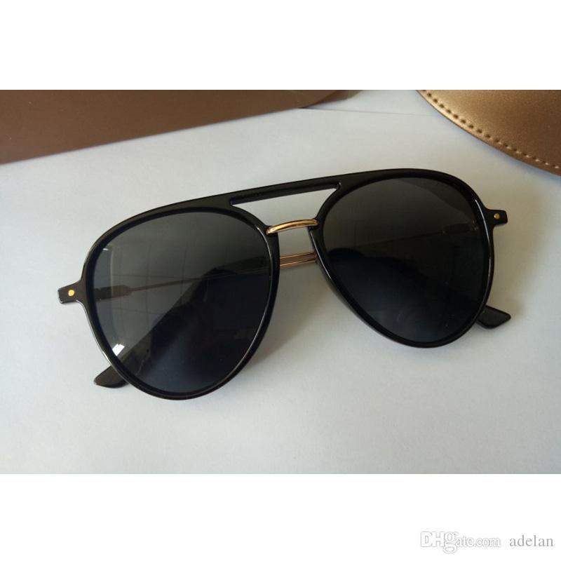 55c7965aacffb Compre 2018 Designer De Marca De Luxo Óculos De Sol Mulheres Lente Colorida  Pontos De Sol Com Caixa V400 Polarizing Óculos De Sol Para A Mulher 4 Cores  De ...