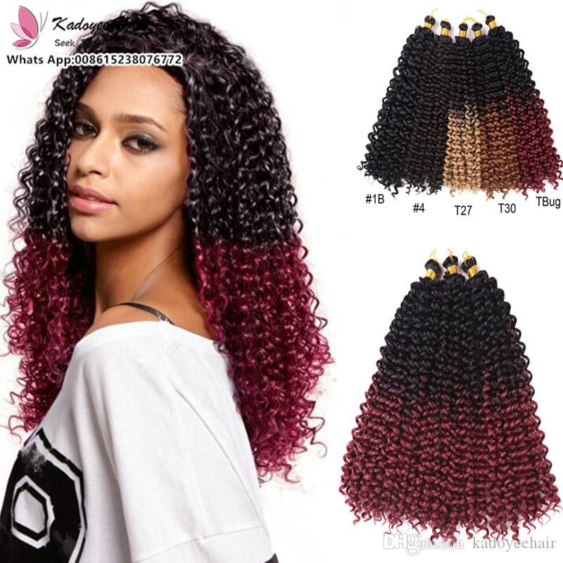 Compre Curly Crochet Hair Extension Bohemian Crochet Trenzas Afro ...