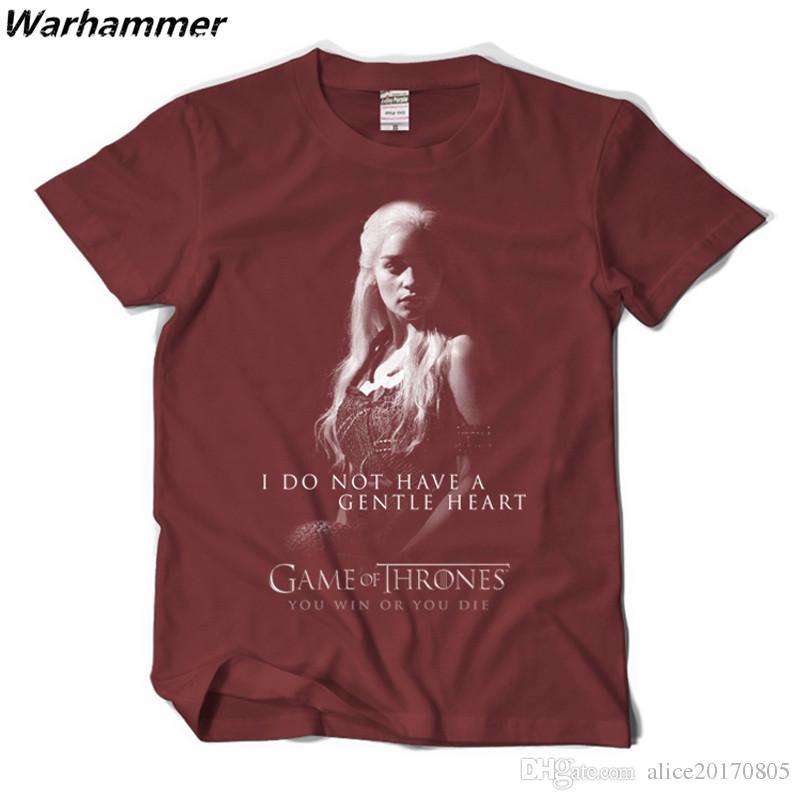 2018 New Fashion T-shirt Men Game Of Thrones Summer Cotton Printed Ice Fire Targaryen Tee Shirt Homme Short Sleeve 2XL GOT Fans Men T shirt