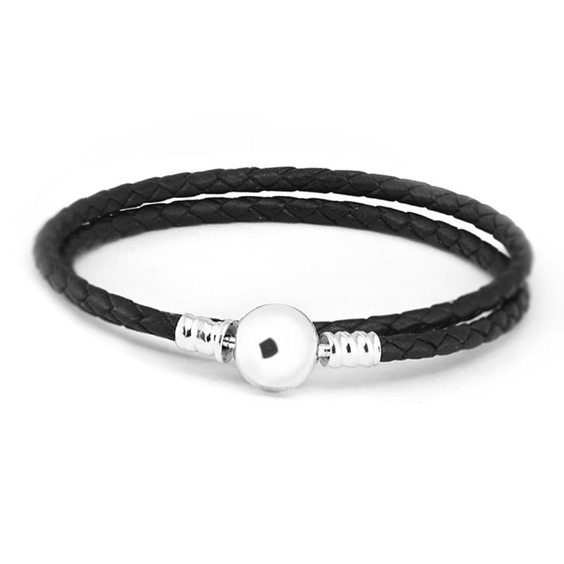 d1d344f7d 2019 Black Leather Bracelet 100% 925 Sterling Silver Ball Clasp Bracelets  For Women Fit Charm Beads Diy Fine Jewelry PLE701 From Spectalin, $25.14 |  DHgate.
