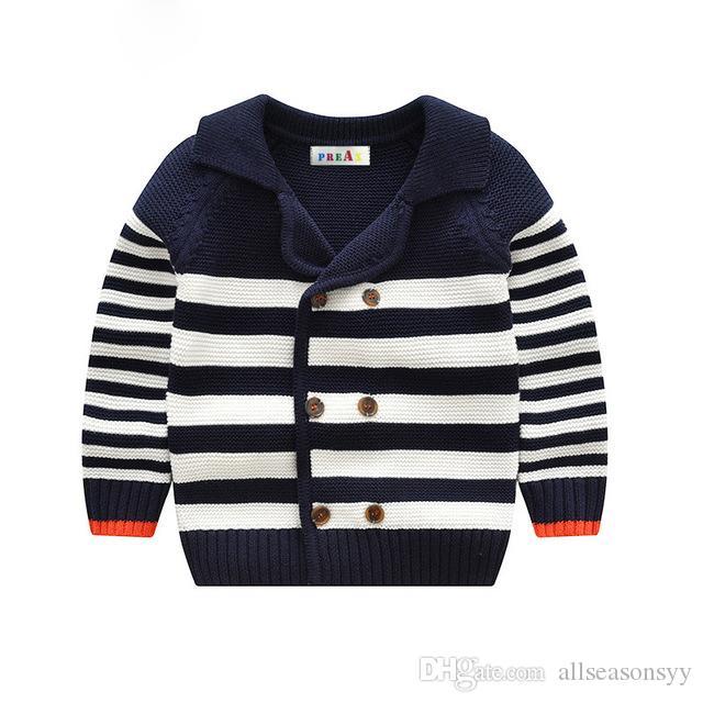 252921e9acda 2018 Navy Style Baby Boys Sweater Chidlren S Girl Clothing Cardigan ...
