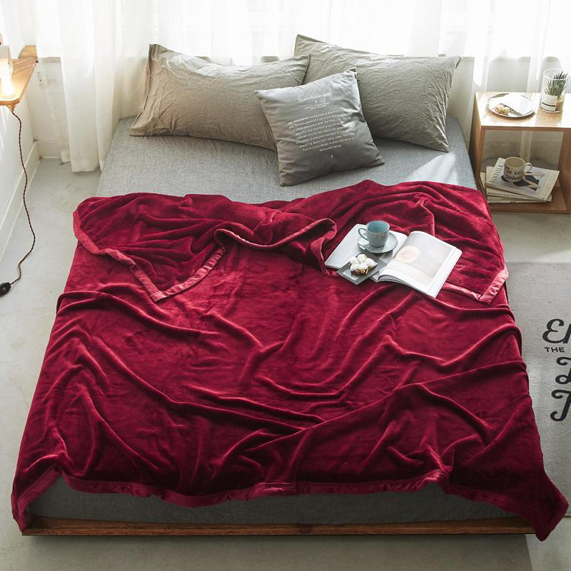 a7c8735acd New Winter Imitation Velvet Mink Blanket For Adult Soft Plush Fleece Blanket  Solid 400G Thicker Blankets Sofa Bed Throw Big Warm Fuzzy Blankets Hd  Designs ...