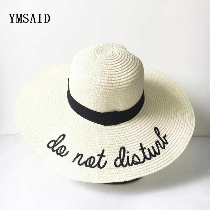 c1702001 2019 2018 Summer Women Sun Hat Ladies Wide Brim Straw Hats Foldable Beach  Panama Hats Church Hat Bone Chapeu Feminino S18101708 From Datai, $15.76 |  DHgate.
