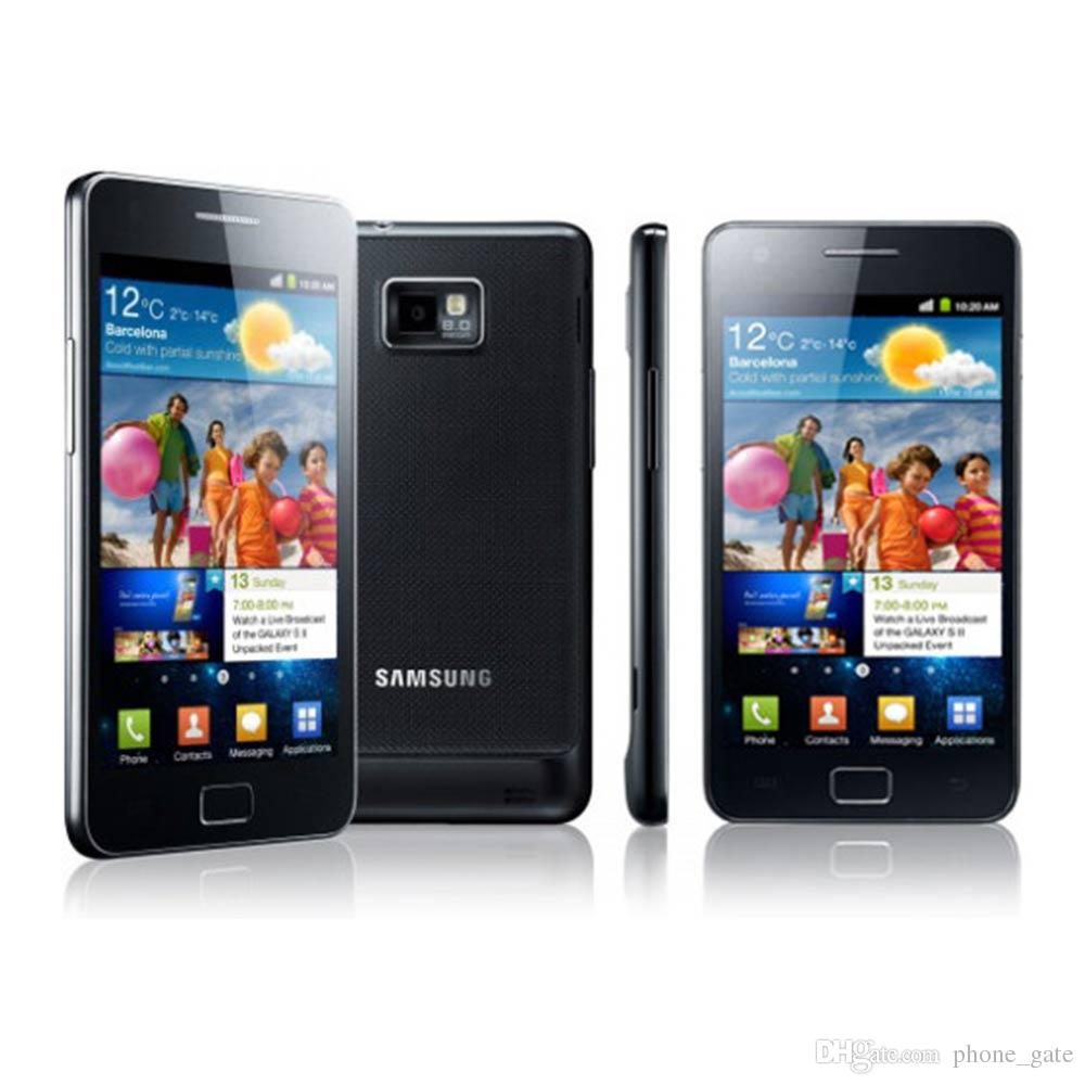 Refurbished i9100 Unlocked Samsung GALAXY SII S2 I9100 Cellphone Android 2.3 Wi-Fi GPS 8.0MP Camera Dual Core Mobile Phone
