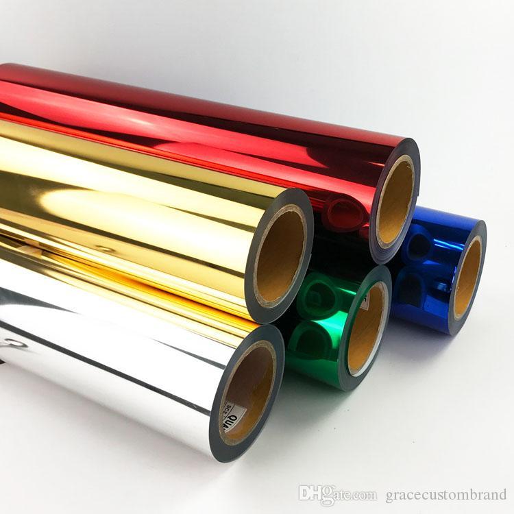 Accessoires de mode PU Film de transfert de chaleur en métal doux / Personnalisé Votre LOGO sur des T-shirts Film de transfert de chaleur PU Flex Impression vinyle sur des vêtements