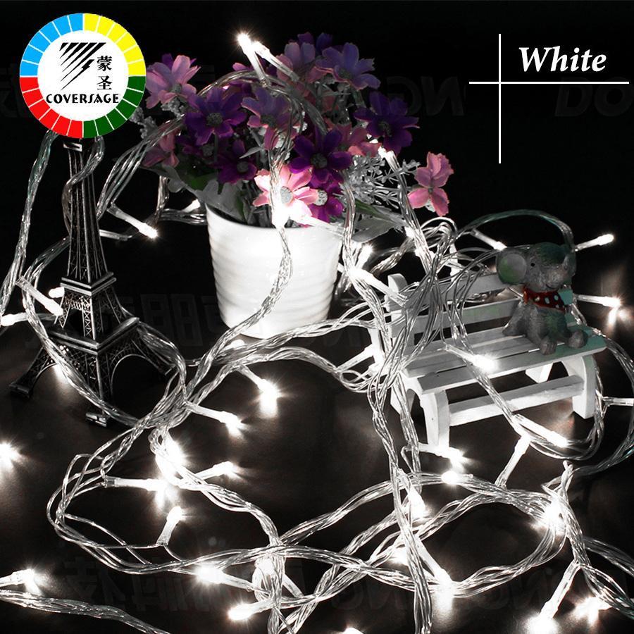 Coversage 10 Mt 100 Led String Garland Weihnachtsbaum Fairy Light Luce Wasserdichte Hausgarten Party Outdoor Urlaub Dekoration