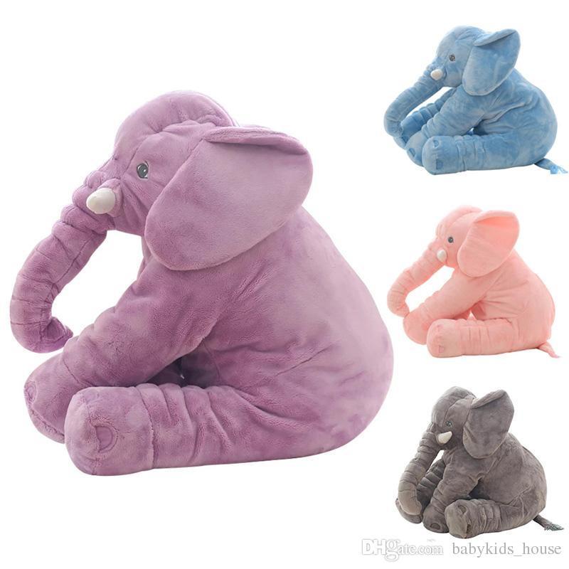 Grosshandel Kinder Bett Kissen Baby Elefant Kissen Stofftier