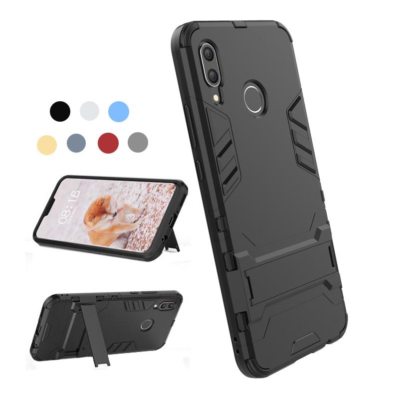 newest collection 50a99 3c1b0 For Huawei Nova 3 Case Silicone Cover Anti-Knock Plastic Robot Armor Slim  Phone Back Cases For Huawei Nova3 Protective Kickstand Case