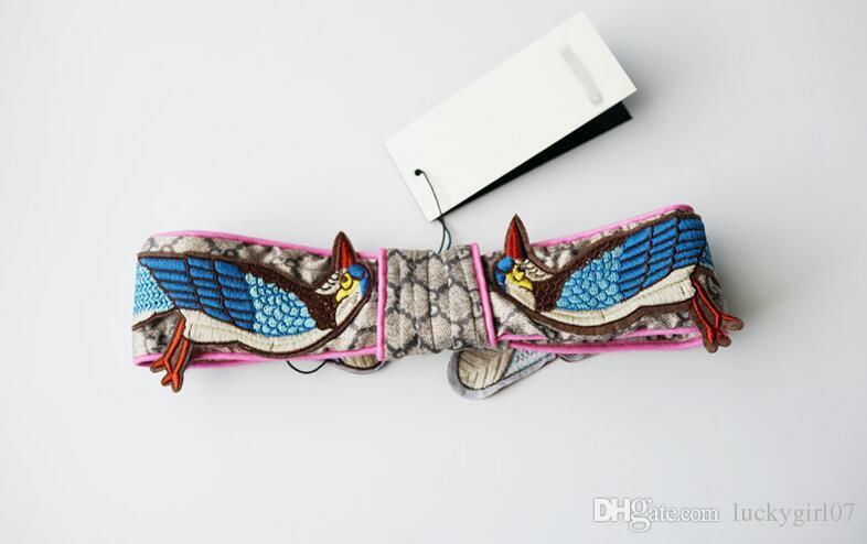 New Hot Designer 100% Silk Heaband hair bands for Women Newest Fashion Luxury Brand Flower Bird embroidery headbands Best Quality
