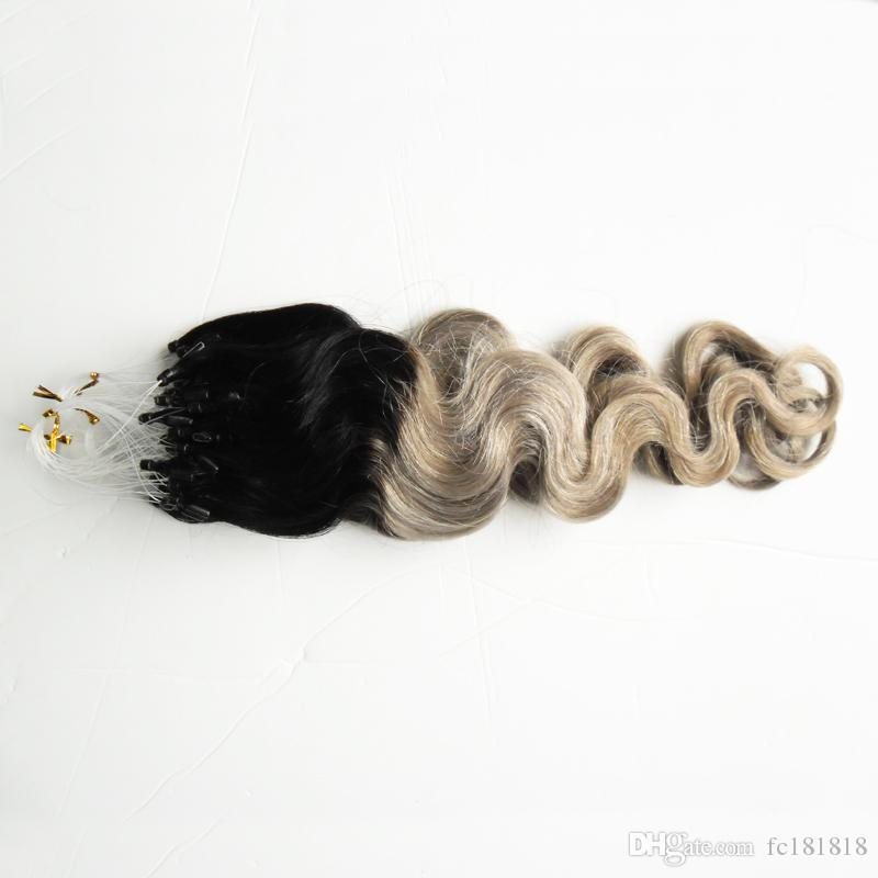 Ombre Loop Micro Remy Body Wave Micro Bead Extensions 100g Loop