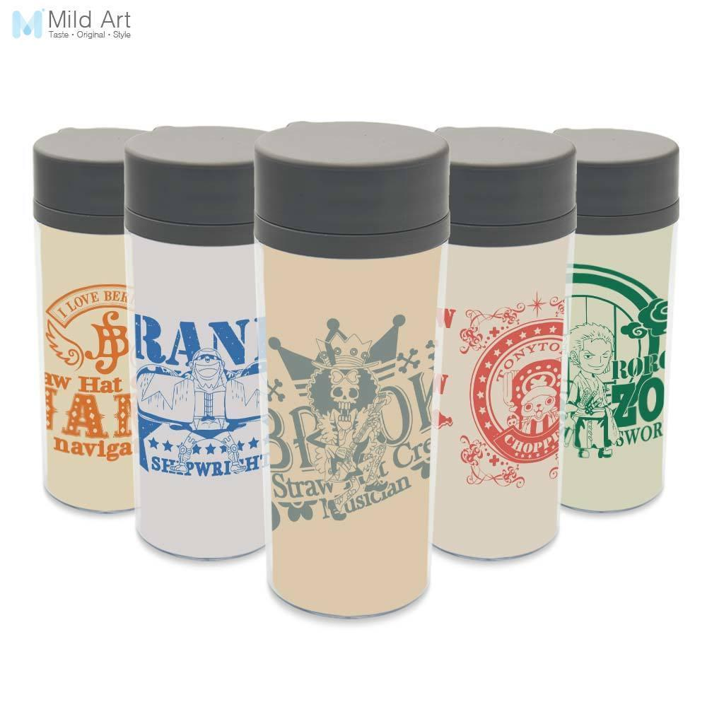 Plastic Insulated Japanese Pop Anime One Piece Luffy Kids Water Bottles 300ml Gifts Bpa Free Clear Personalized Modern Drinkware