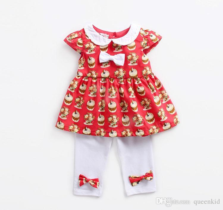 e7ad8f982a Baby Girl Clothing Set Kids Toddler Girl Dress And Pants Children ...