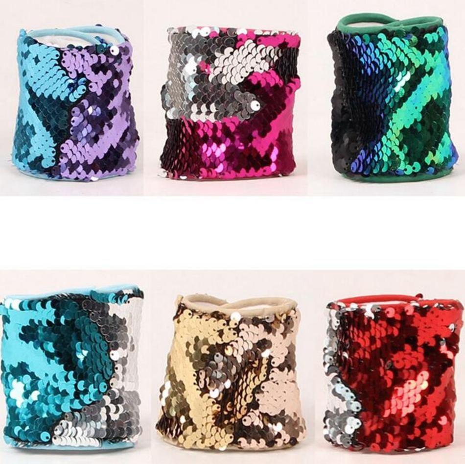 2017 nouveau Sequin Bracelet Magic Sequin Bracelet Bracelet Personnalisé Glitter Bracelet Manchette Bracelet Femmes Charme Cadeaux