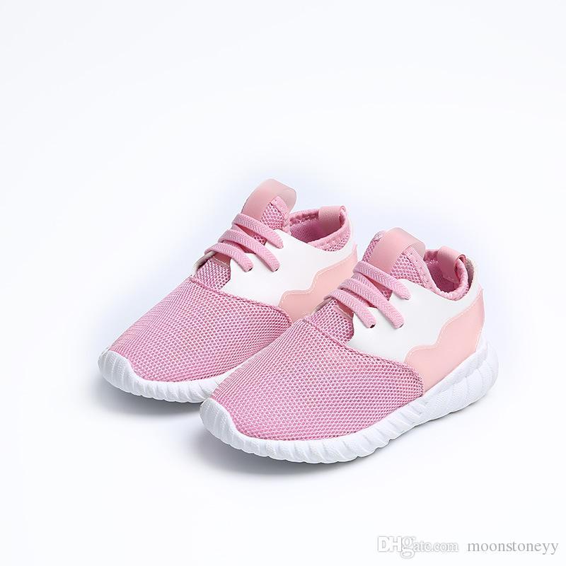 b649a3adef863 Compre Calzado Infantil Para Niños Adolescentes Zapatillas De Deporte Rosa  Zapatillas De Deporte De Malla Transpirable Tenis Para Niños Niña Calzado  Niño ...