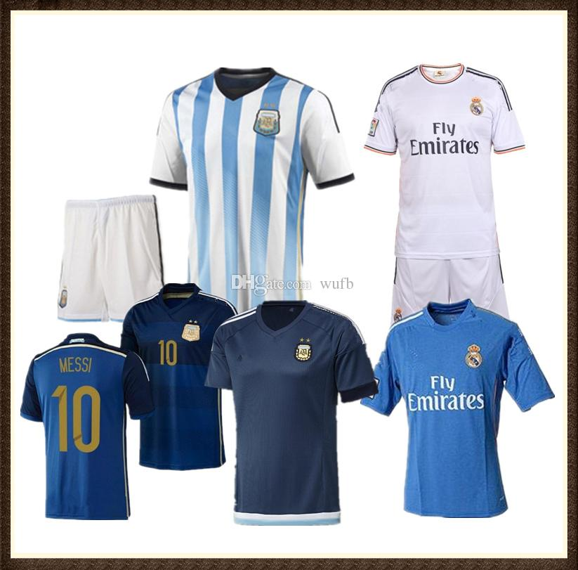 TOP Qualit Retro 2013 2014 Argentina Soccer Jersey Messi Pogba Ribery Pepe  Alonso Diego Ronaldo Van Persie Robben Zidane 2015 Retro Jersey UK 2019  From Wufb ... ff4072af2
