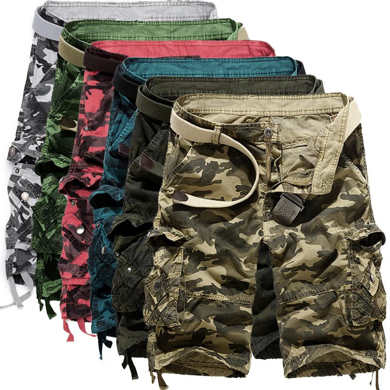 e78a9e15382df 2019 2017 Men Camouflage Cargo Shorts 2016 New Brand Male Army Loose Cargo  Pants Men Casual Work Short Pants Plus Size No Belt 29 38 From Netecool
