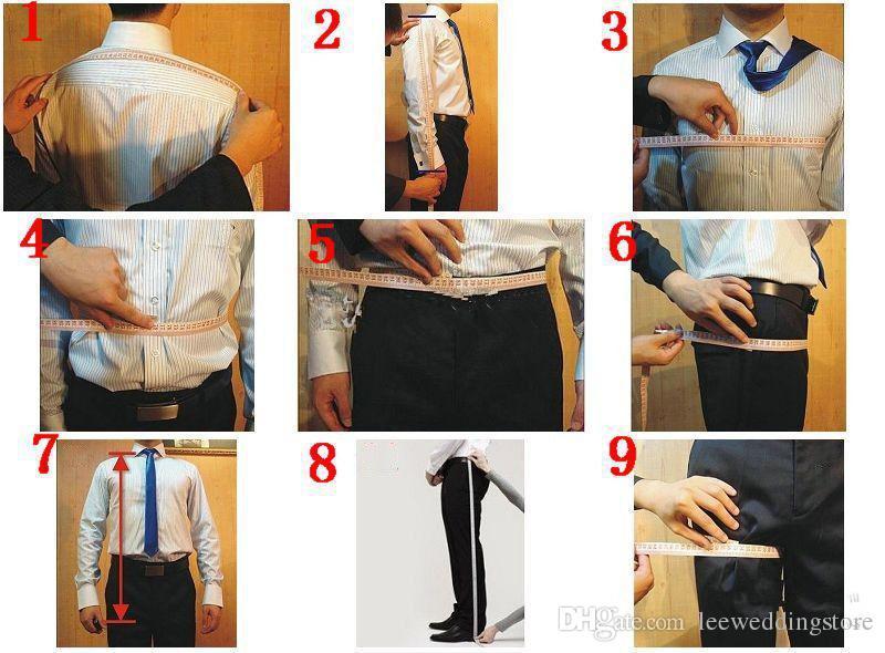 Costumes pour hommes Costumes de mariage sur mesure Bleu marine Slim Fit Meilleur homme Business Prom Tailed Tuxedos 2 pièces Terno Blazer Masculino veste + pantalon