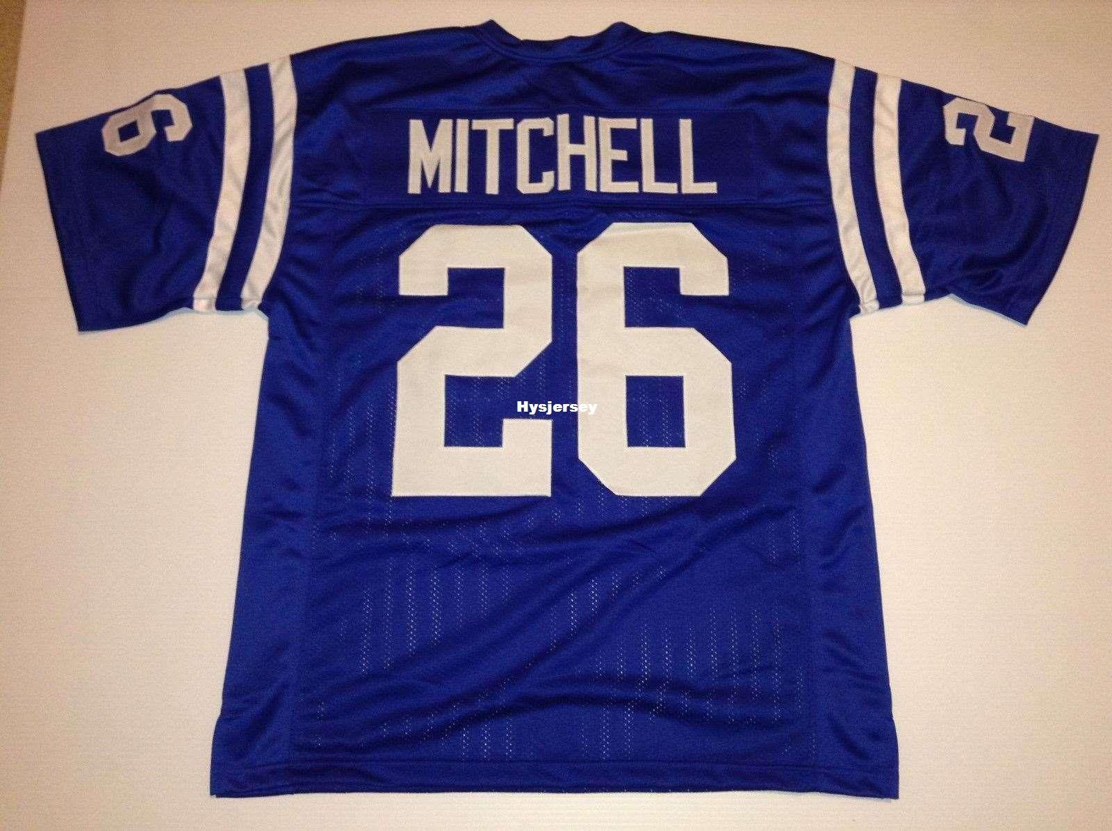 6004172d0e6 Cheap Retro Custom Sewn Stitched  26 Lydell Mitchell Blue MITCHELL ...