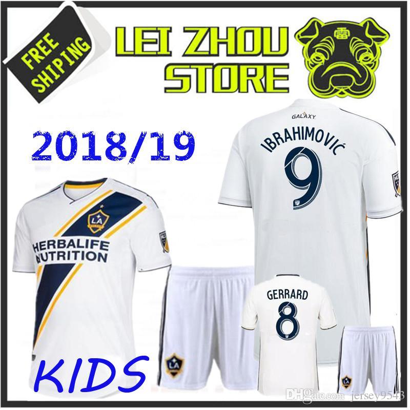 f28fc17e8 2019 New Kids 2018 LA Galaxy Home Soccer Jersey 18 19 Los Angeles Camisa  Ibrahimovic ALESSNDRINI J.DOS SANTOS Child Kit Football Shirt Uniforms From  ...