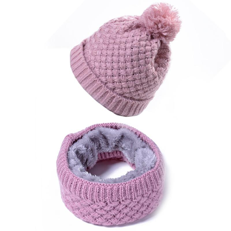6e665c467c8 2019 Women Fleece Hat Pompoms Thick Knitted Winter Warm Beanie Scarf Female  Fashion Ski Hats Cap Skullies Beanies Bonnet Gift Elegant From Duriang