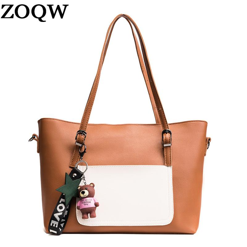 44ab514cafea ZOQW Women Messenger Bags Casual Tote Bag Large Capacity PU Leather ...