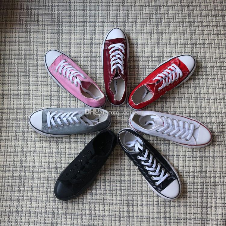 Tüm boyut 35-46 Yeni Moda kanvas ayakkabılar erkekler kadınlar Büyük Çocuklar Erkek ve kız ayakkabı Düşük Yüksek unisex sneakers ayakkabı Severler NOEL hediye 15 renkler