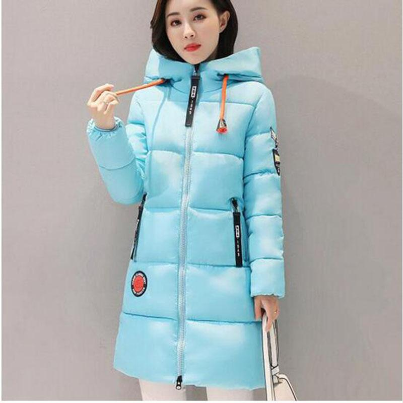 10db1625c66 2019 Plus Size Winter Coat Women 2017 New Hot Sale Wadded Jacket Female  Solid Color Hooded Thick Warm Parka Cotton Outerwear AC236 From Forseason